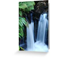 Double Waterfalls Greeting Card