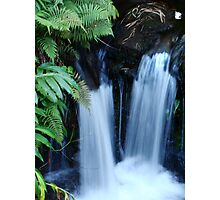 Double Waterfalls Photographic Print