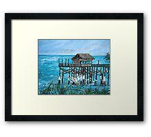 Cocoa Beach Ocean Fishing Pier Framed Print