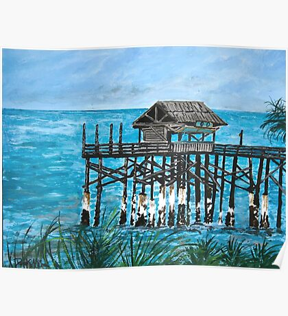 Cocoa Beach Ocean Fishing Pier Poster