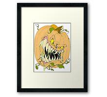 Horror Pumpkin Framed Print