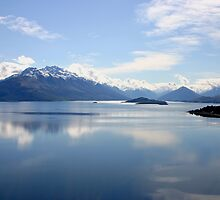 New Zealand landscape Lake Wakatipu by jwwallace