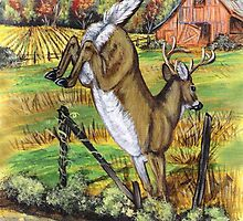 Deer Leaving by WildestArt