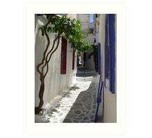 Downtown Naxos Art Print