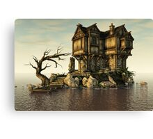The Medieval House on The Sea Canvas Print