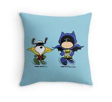 Batman and Robin Peanuts Throw Pillow