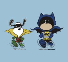 Batman and Robin Peanuts by CeaserTee