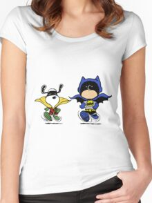 Batman and Robin Peanuts Women's Fitted Scoop T-Shirt