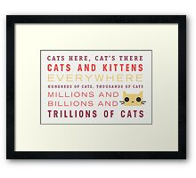 Millions of Cats Framed Print
