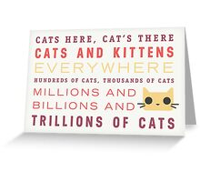 Millions of Cats Greeting Card