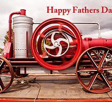 Fathers Day Card - Vintage Engine by Deborah McGrath