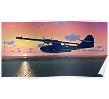 PBY Sunset Flight Poster
