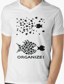 Organize Mens V-Neck T-Shirt