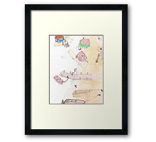 Lake Gnomes Framed Print