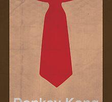Donkey Kong minimalist poster by thegDesigns