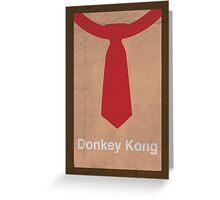 Donkey Kong minimalist poster Greeting Card