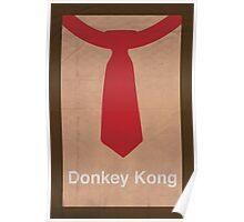 Donkey Kong minimalist poster Poster
