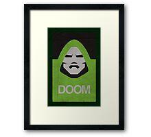 DOOM Minimalism poster Framed Print