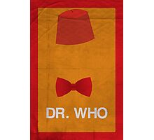 Dr. Who Minimalism Poster Photographic Print