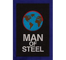 Man of Steel minimalist poster Photographic Print
