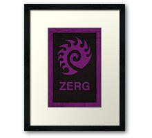 Zerg Framed Print