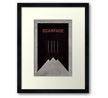 Scarface minimalist poster Framed Print