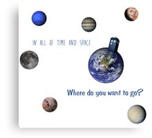 Doctor who related planet picture  Canvas Print