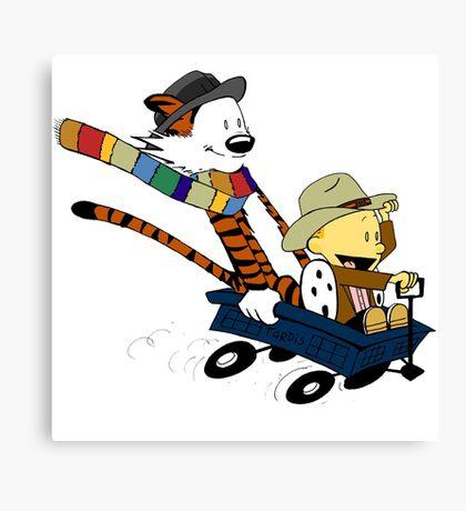 Calvin And Hobbes Doctor Calvin Canvas Print