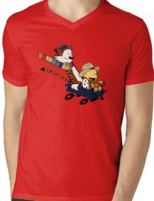 Calvin And Hobbes Doctor Calvin Mens V-Neck T-Shirt