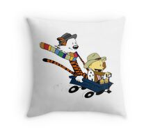 Calvin And Hobbes Doctor Calvin Throw Pillow
