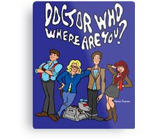 """""""Doctor Who, Where Are You?"""" Metal Print"""