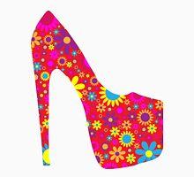High Heel Shoe, Flowers - Red Yellow Blue  T-Shirt