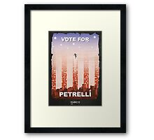 Vote for Nathan Petrelli Framed Print
