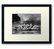 ©DA-HCS The Rocks In Monochrome Framed Print
