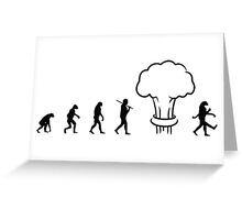 Nuclear Evolution Greeting Card