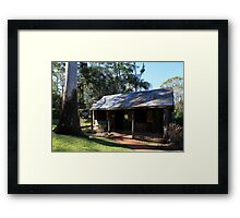 Slab Cottage And Gum Tree Framed Print