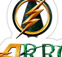 The Flash and Arrow (Team Flarrow) Sticker
