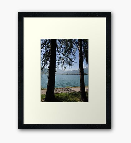 Zell Am See: Lake Through Trees Framed Print