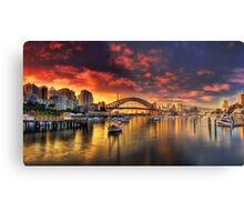 Lavender Bay Sunrise - Panorama  Metal Print