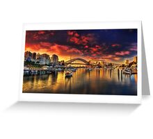 Lavender Bay Sunrise - Panorama  Greeting Card