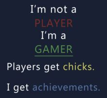 I'm not a player i'm a gamer Kids Clothes