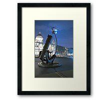 Telescope at Liverpool's Pier Head Framed Print