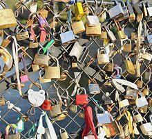 Love Locks on the Seine by TheDrunkSnail