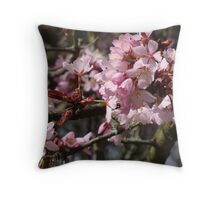 Purple Tree Flower Throw Pillow