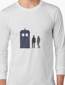 The Doctor and Amy Pond Long Sleeve T-Shirt