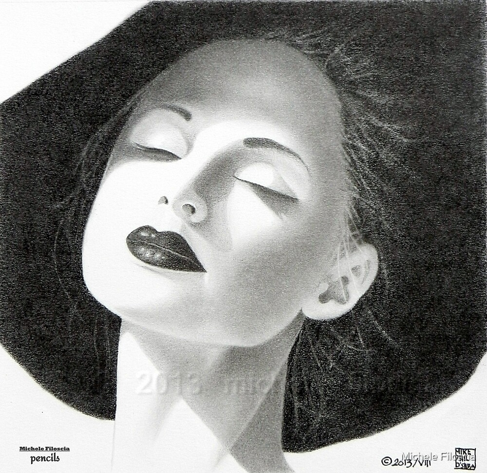 A Woman And Her Black Hat by Michele Filoscia