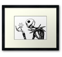 Jack - The nightmare before christmass Framed Print
