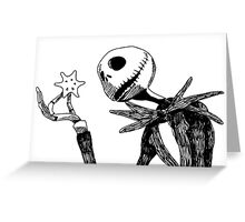 Jack - The nightmare before christmass Greeting Card