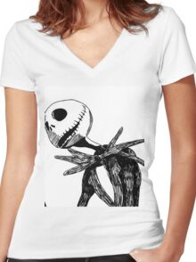 Jack - The nightmare before christmass Women's Fitted V-Neck T-Shirt