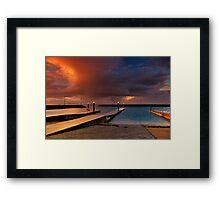 """""""Sunset Tempest"""" Framed Print"""